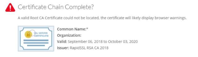 Certificate Chain Complete